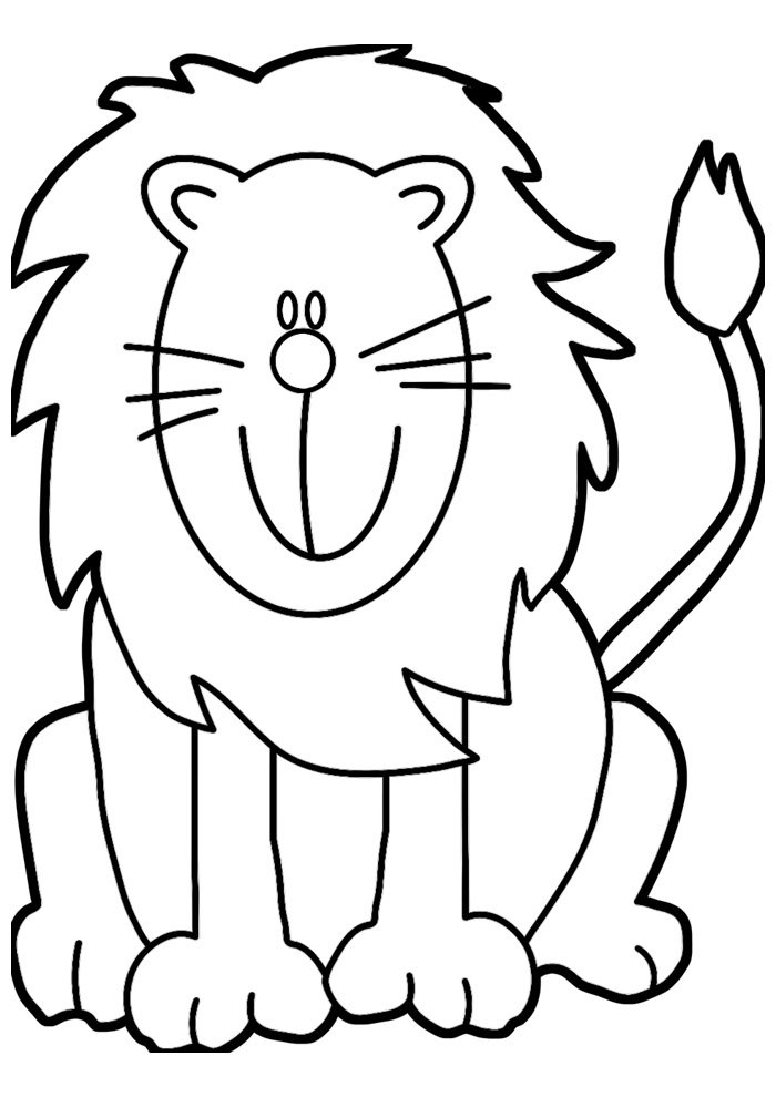 lion coloring page 2