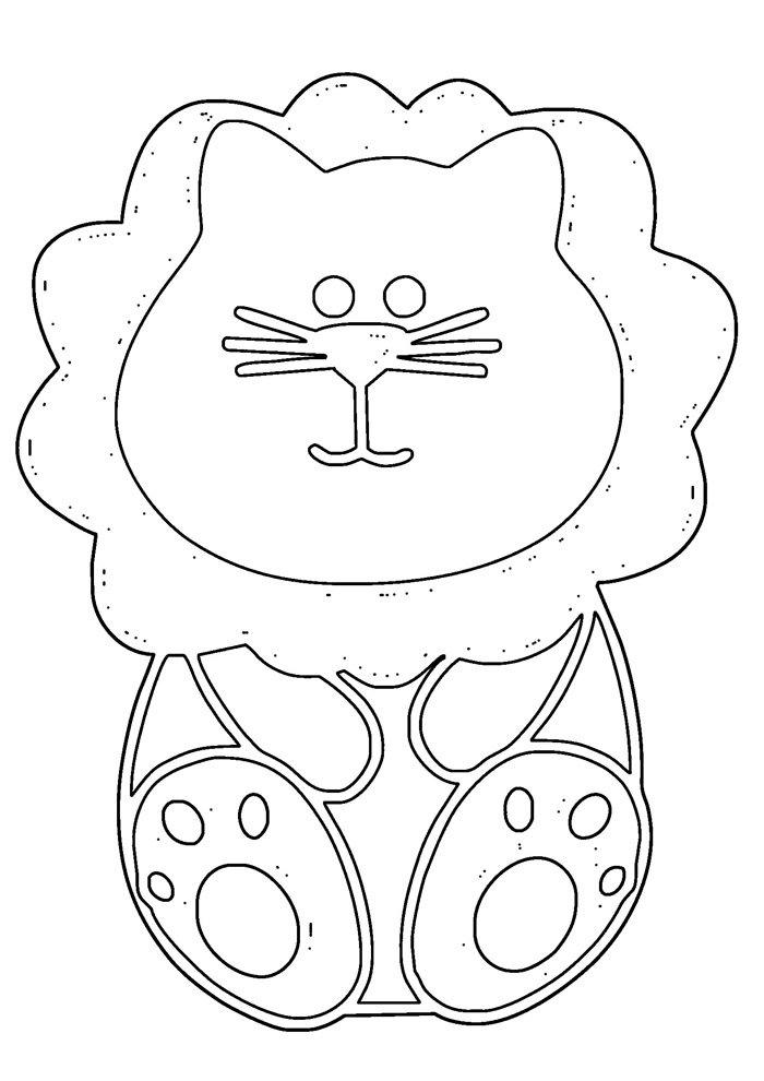 lion coloring page 27
