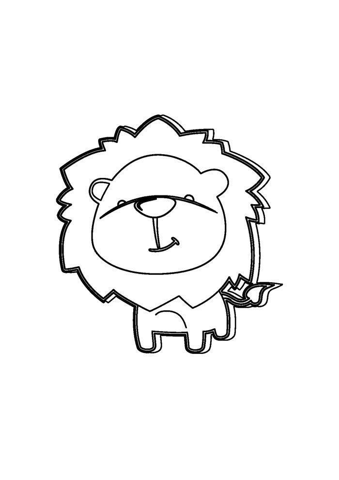 lion coloring page 28