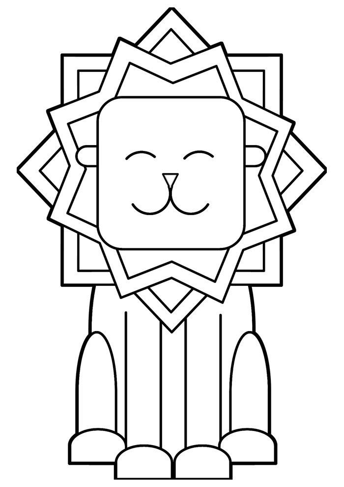 lion coloring page 3