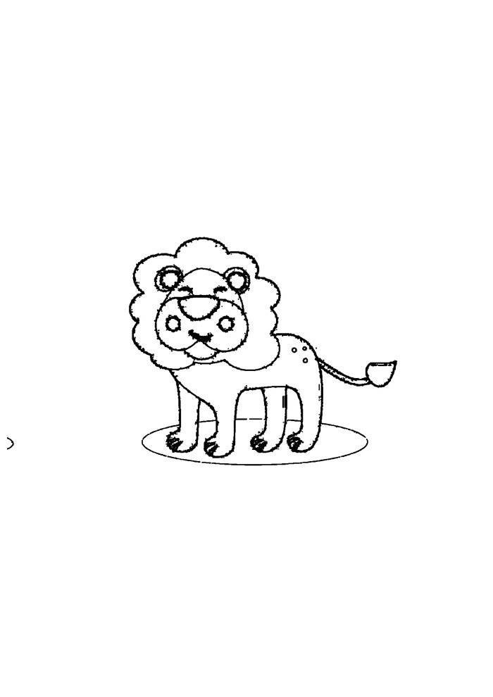 lion coloring page 30