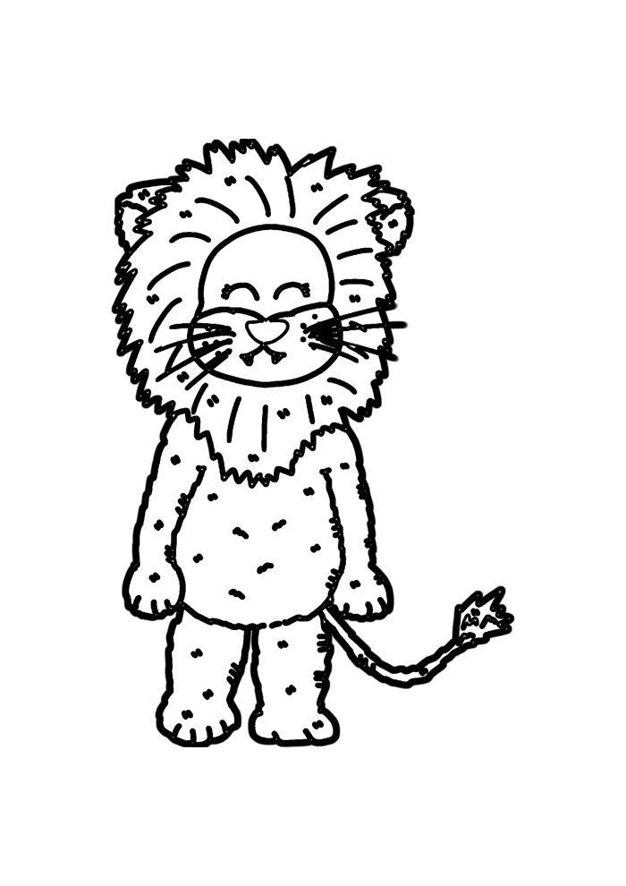 lion coloring page 31