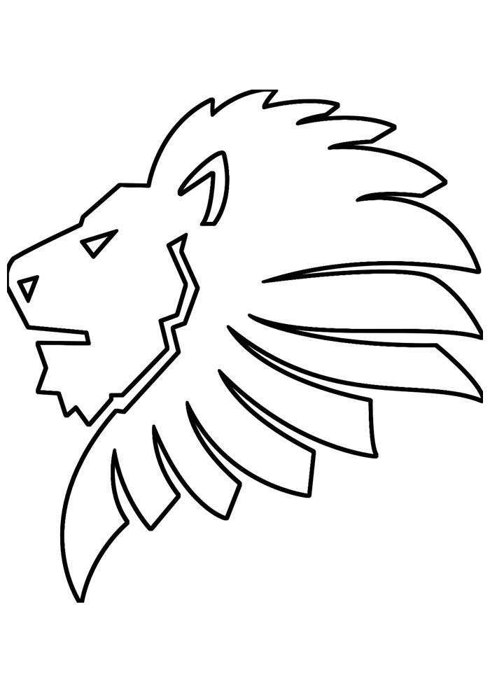 lion coloring page 5