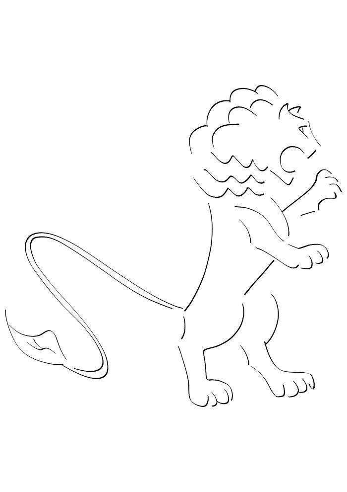 lion coloring page 8