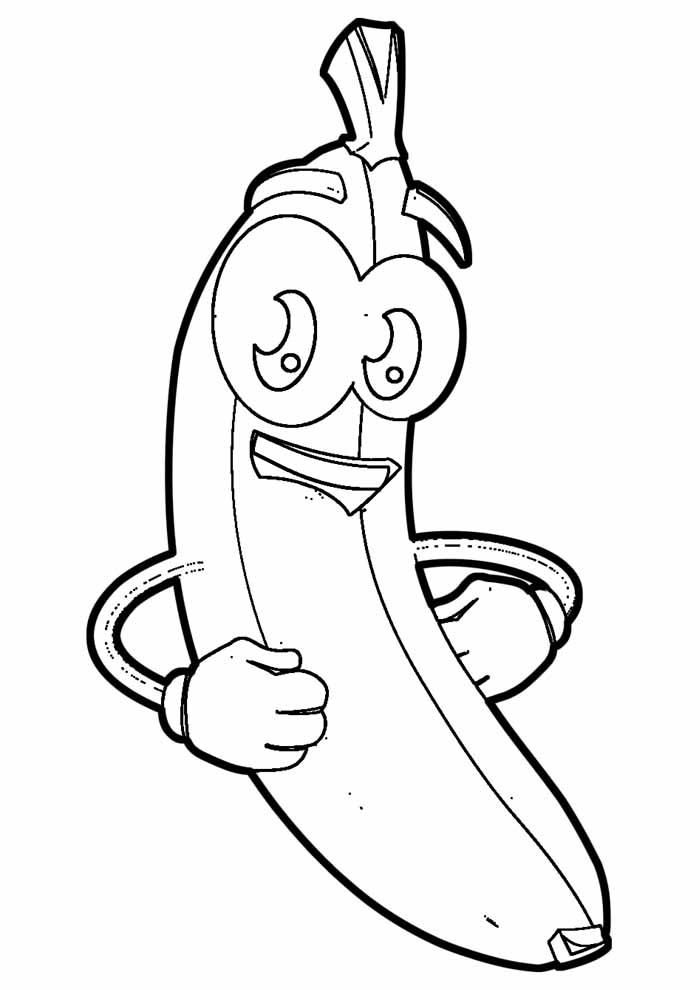 banana coloring page 14