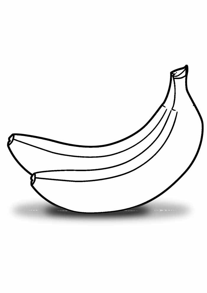 banana coloring page 24
