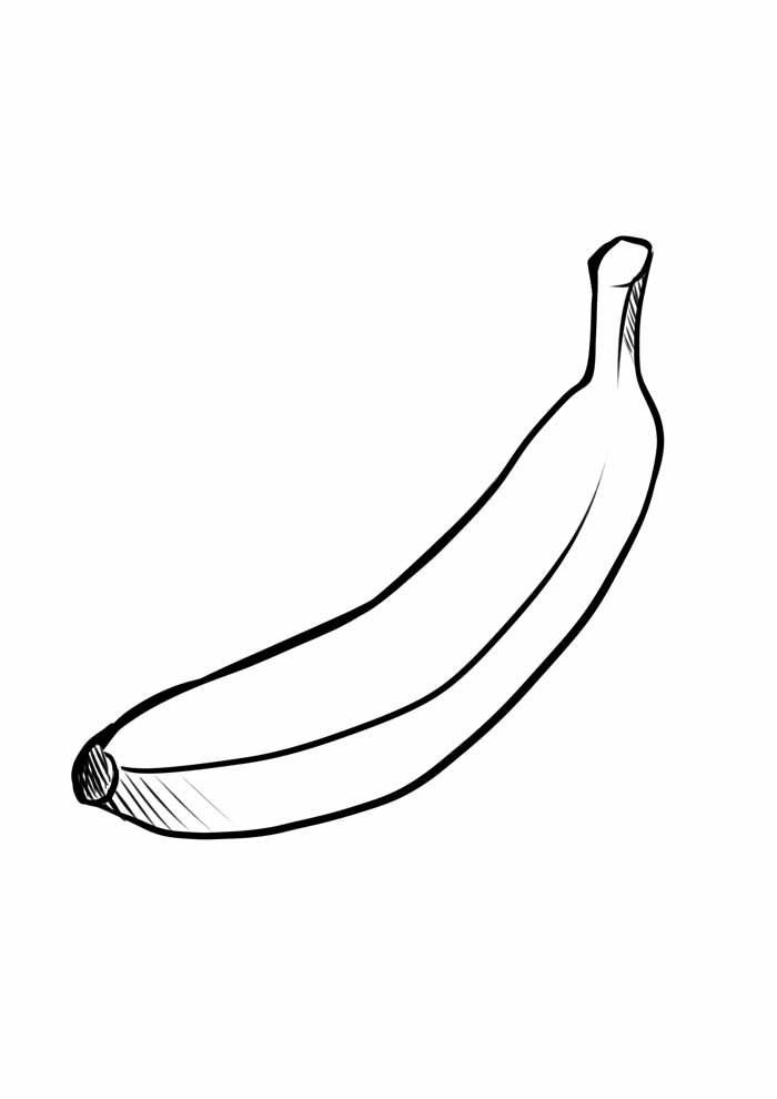 banana coloring page 28