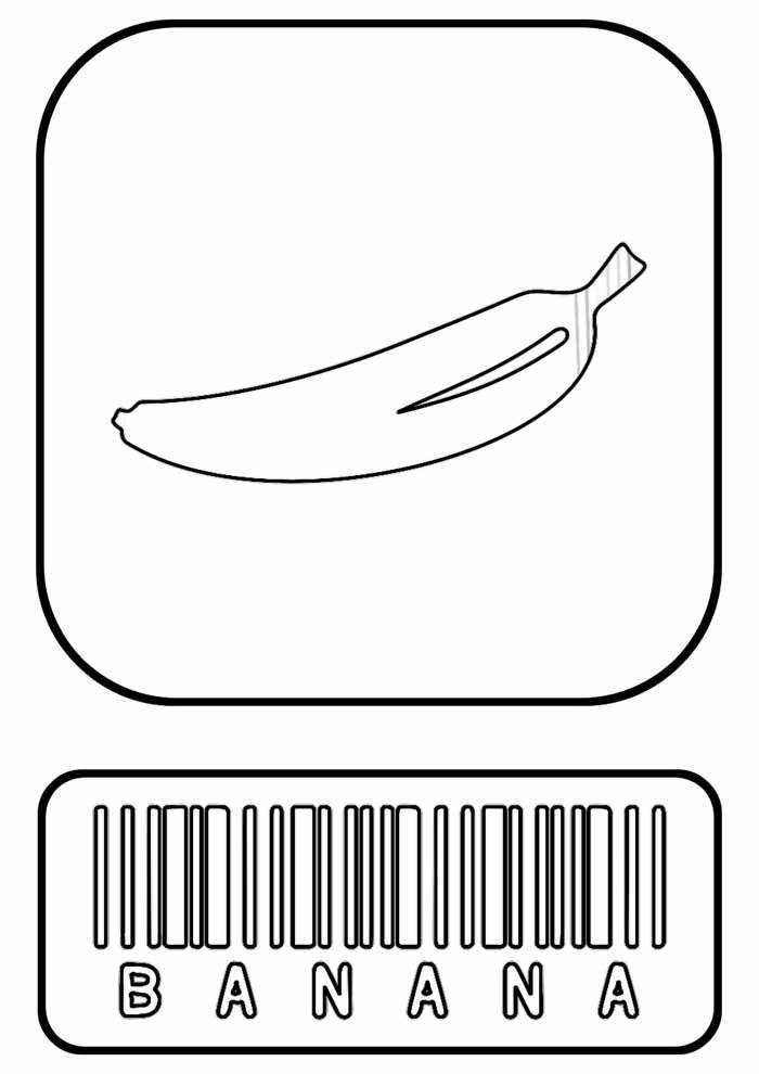 banana coloring page 4
