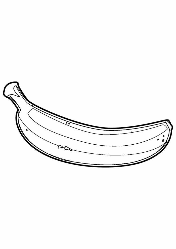 banana coloring page 6