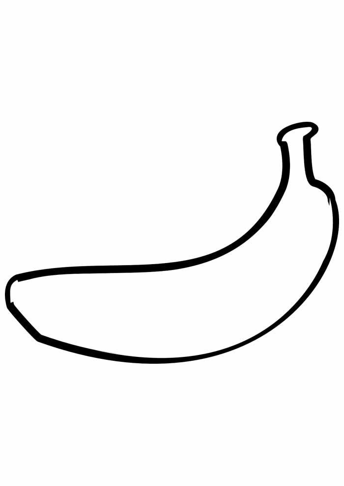 banana coloring page 8