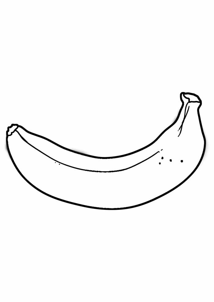banana coloring page 9