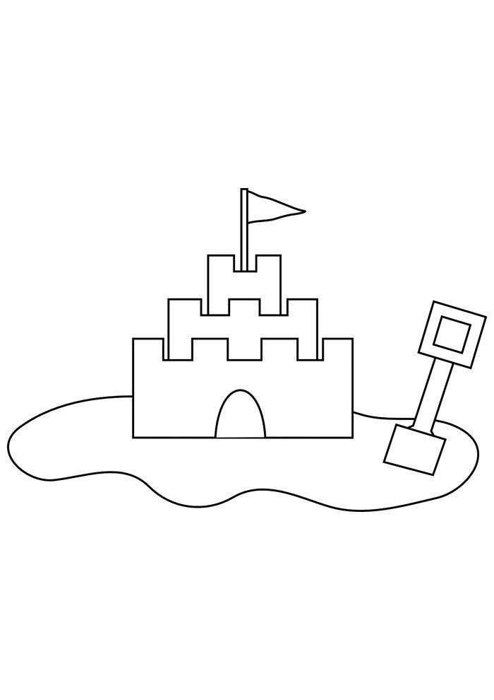 castle coloring page 11