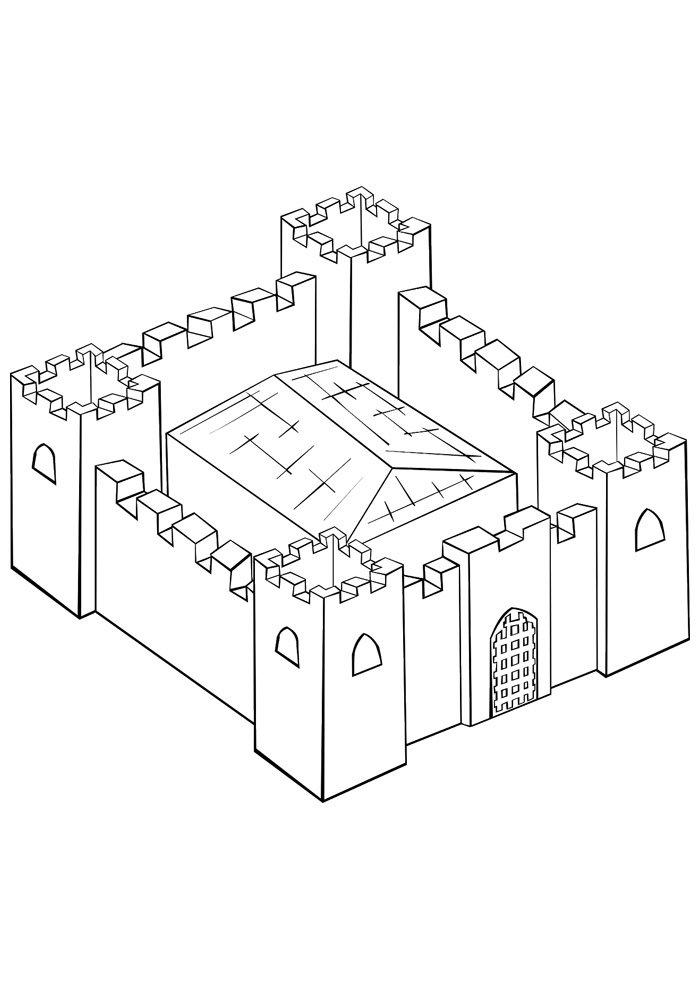 castle coloring page 12