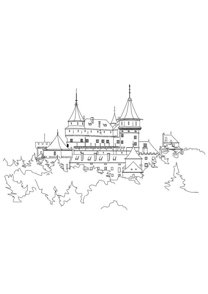 castle coloring page 15