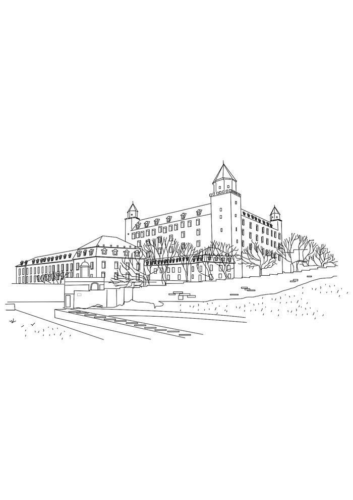 castle coloring page 16