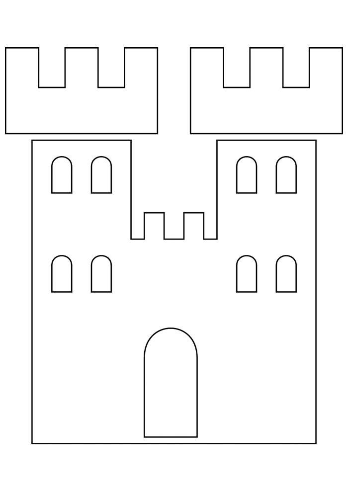 castle coloring page 18