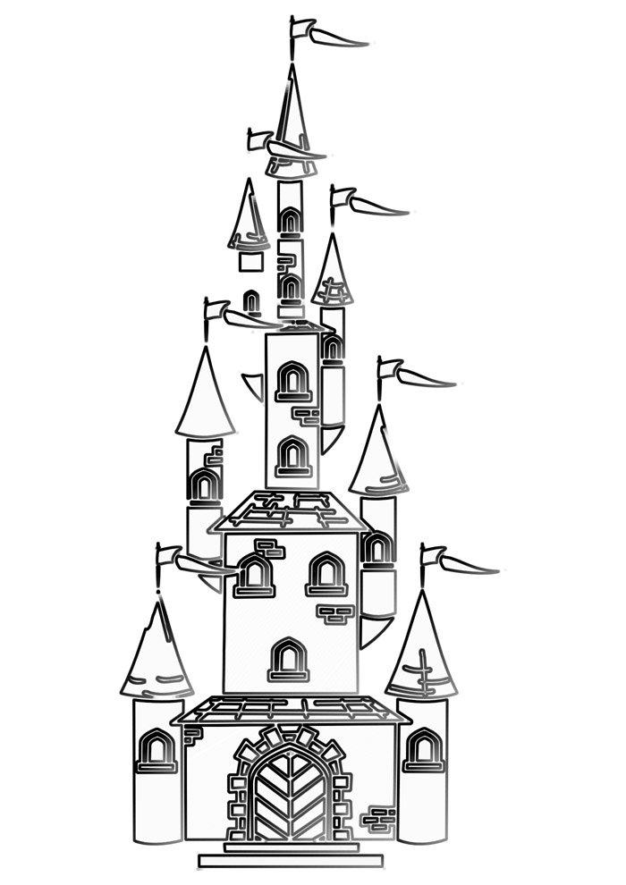 castle coloring page 20