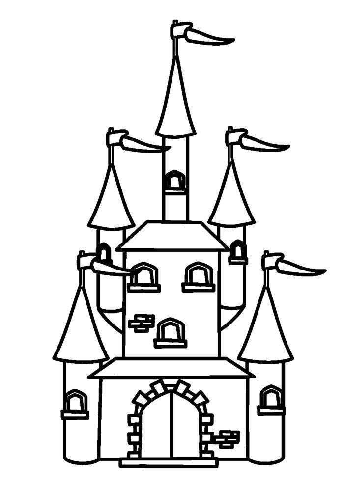 castle coloring page 21