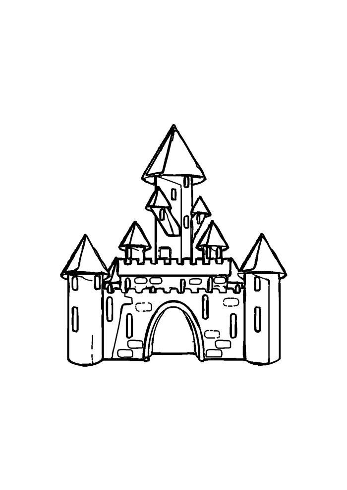 castle coloring page 22