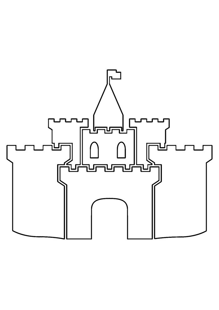 castle coloring page 23