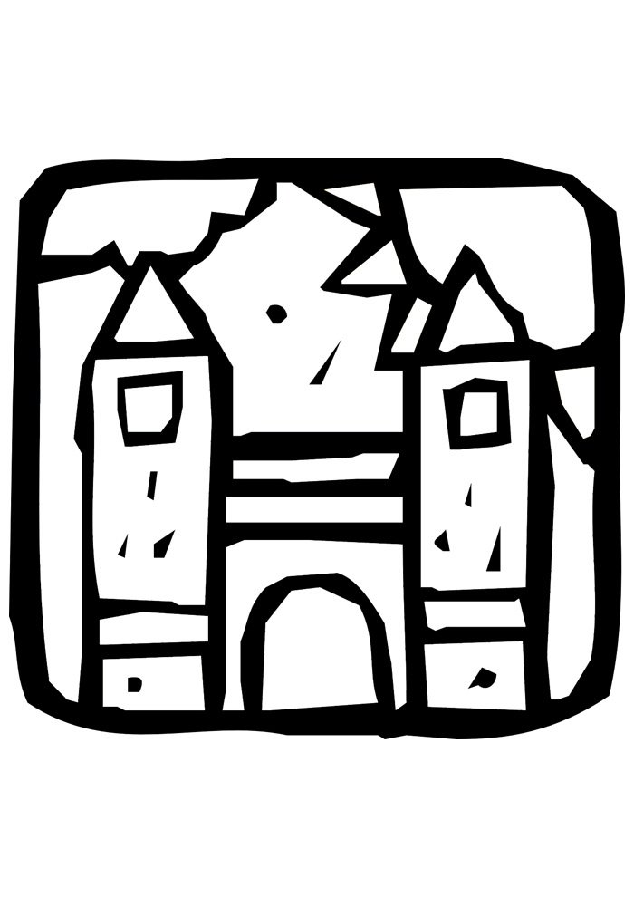 castle coloring page 26