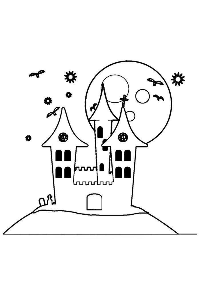 castle coloring page 27