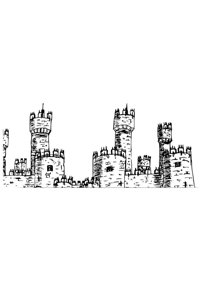 castle coloring page 3