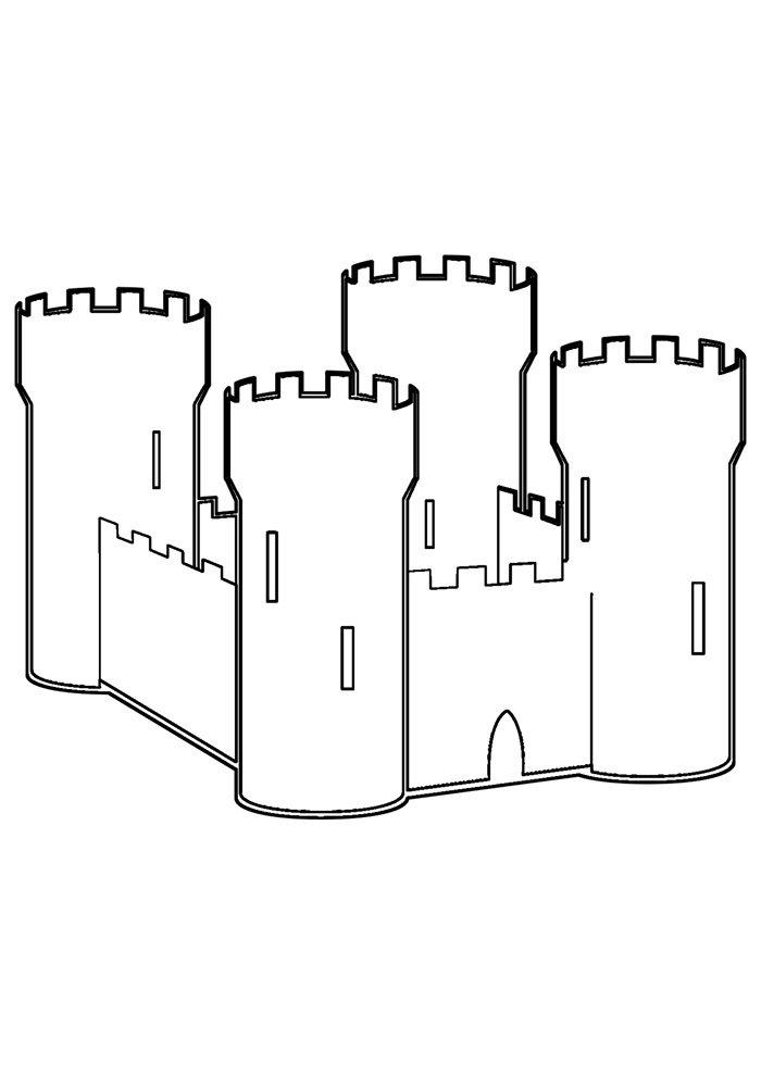 castle coloring page 31