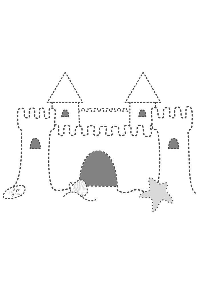 castle coloring page 5