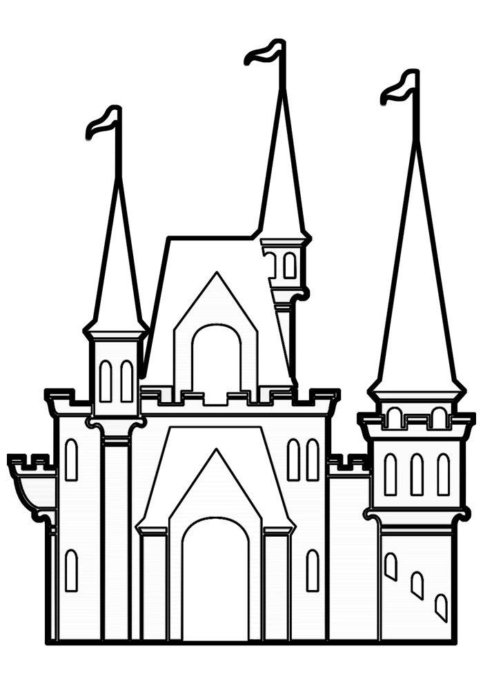 castle coloring page 9