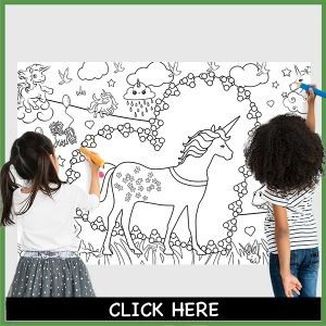 giant coloring poster unicorn