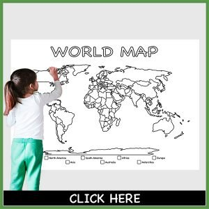 giant coloring poster world map