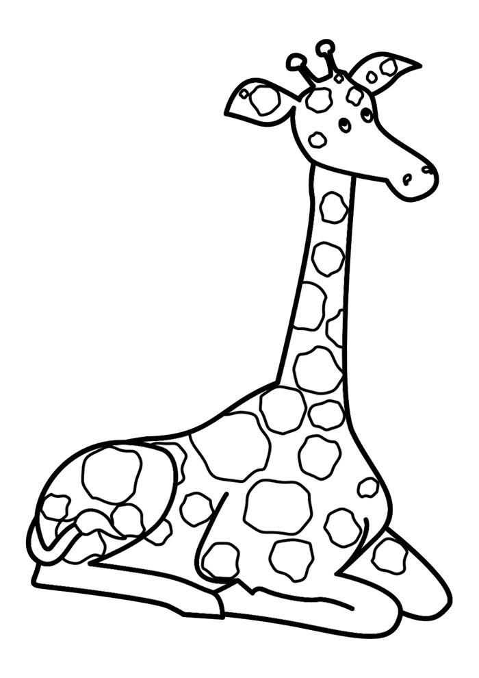 giraffe coloring page 11
