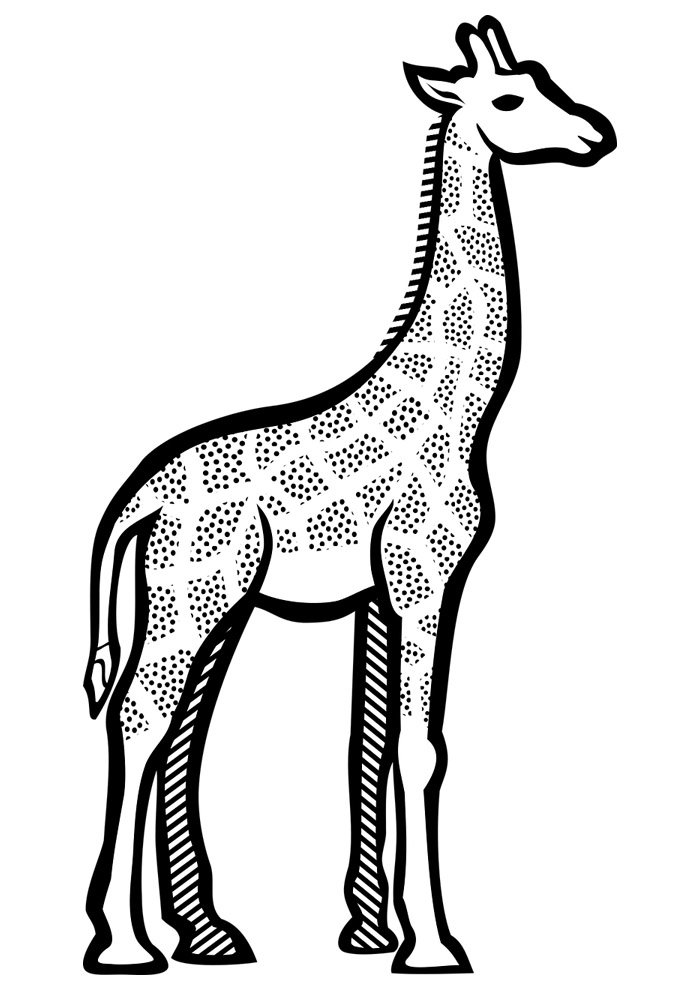 giraffe coloring page 12