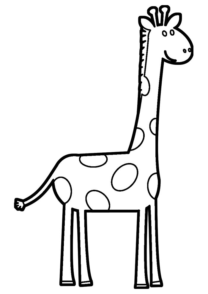 giraffe coloring page 16