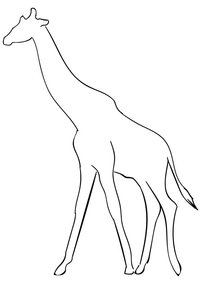 giraffe coloring page 18