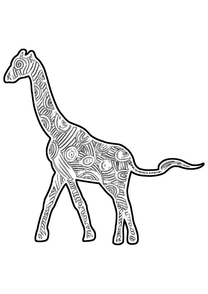 giraffe coloring page 21