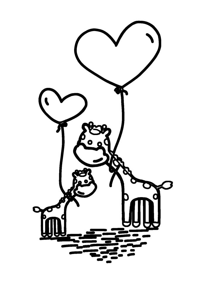 giraffe coloring page 25