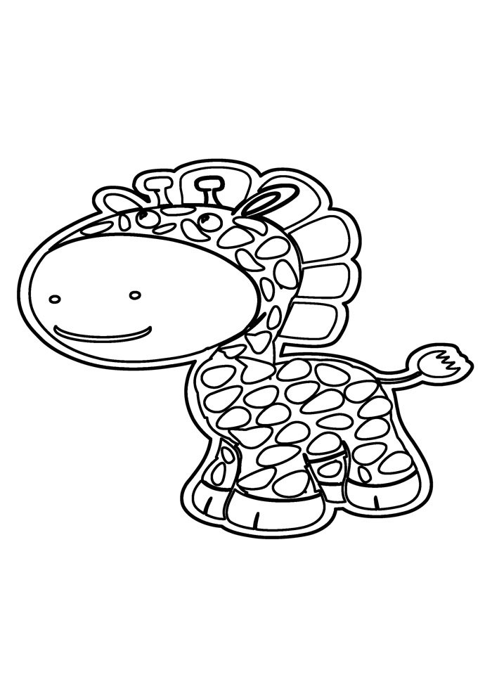giraffe coloring page 26