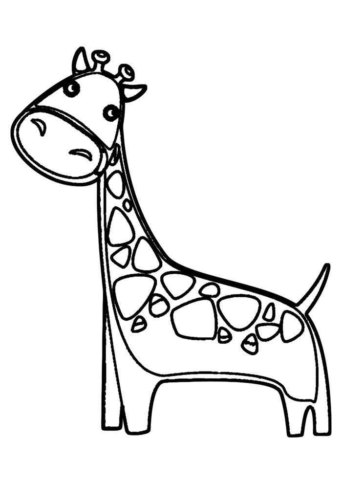 giraffe coloring page 30