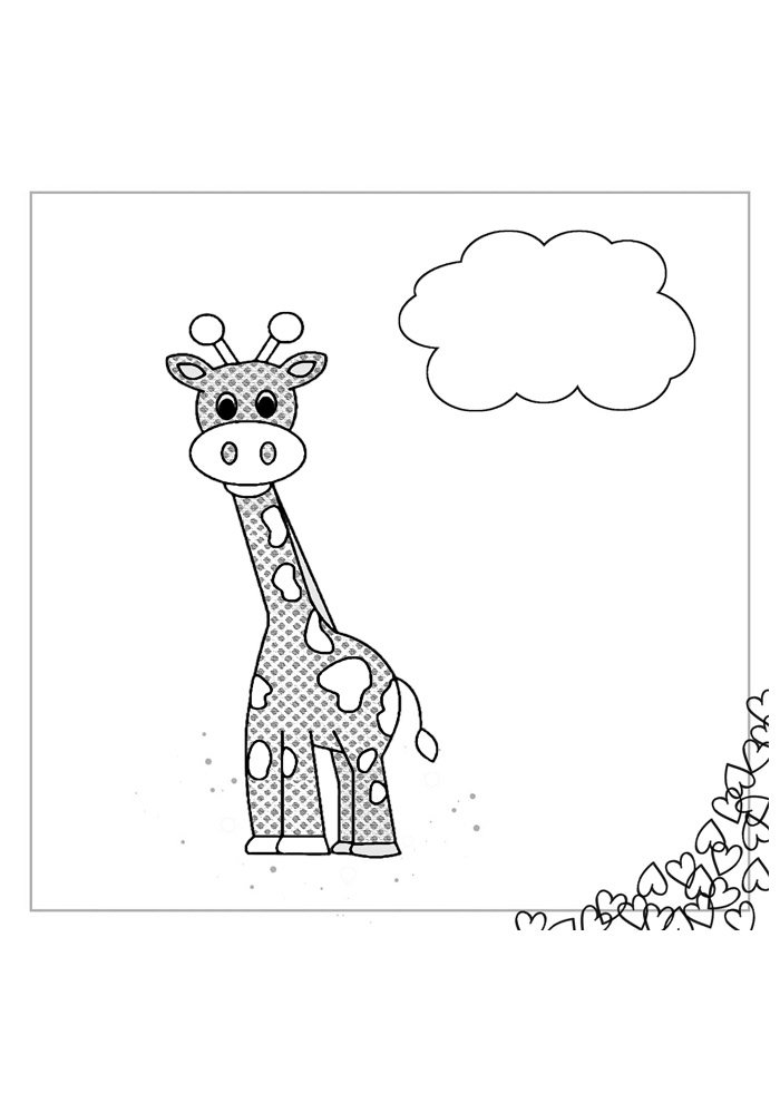 giraffe coloring page 33
