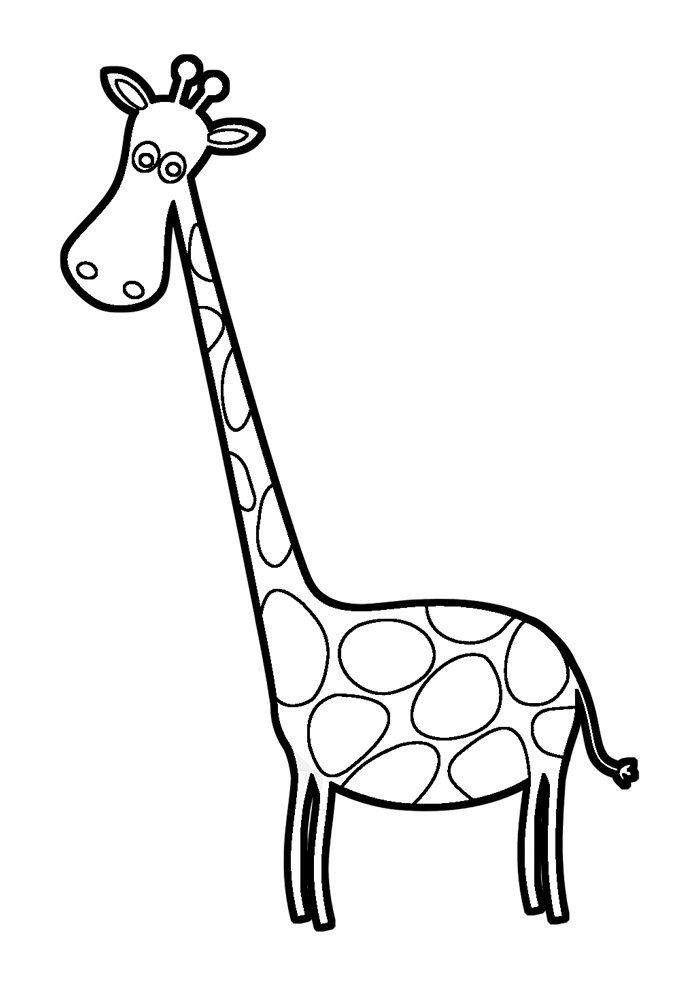 giraffe coloring page 5