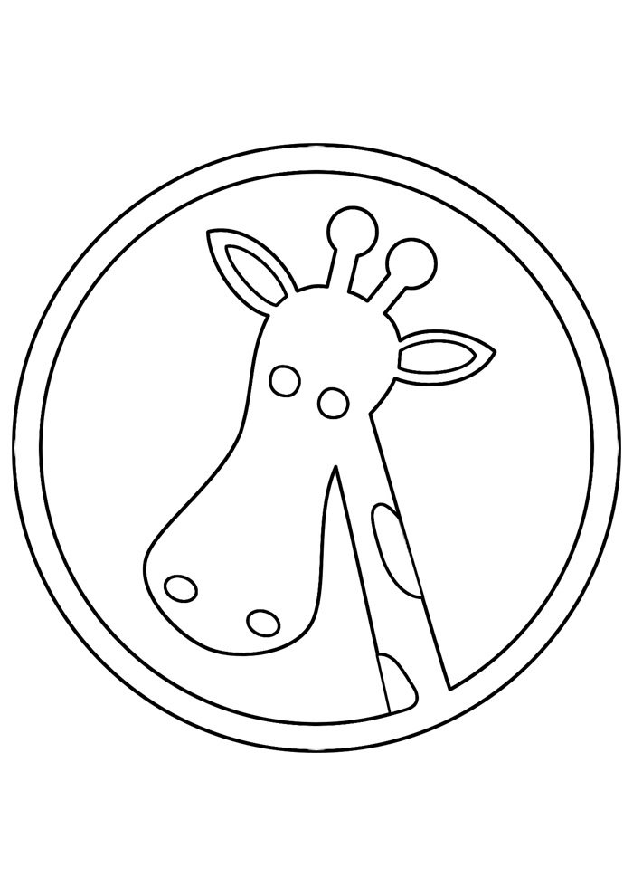 giraffe coloring page 8