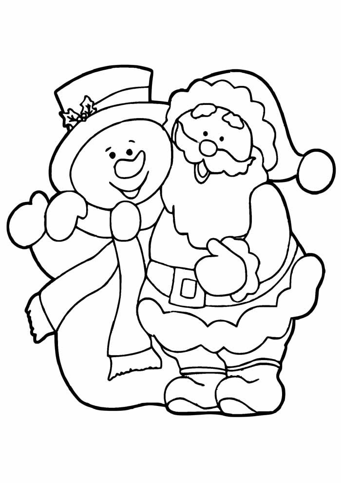 santa coloring page 10