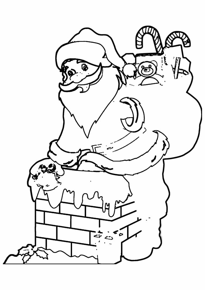 santa coloring page 25