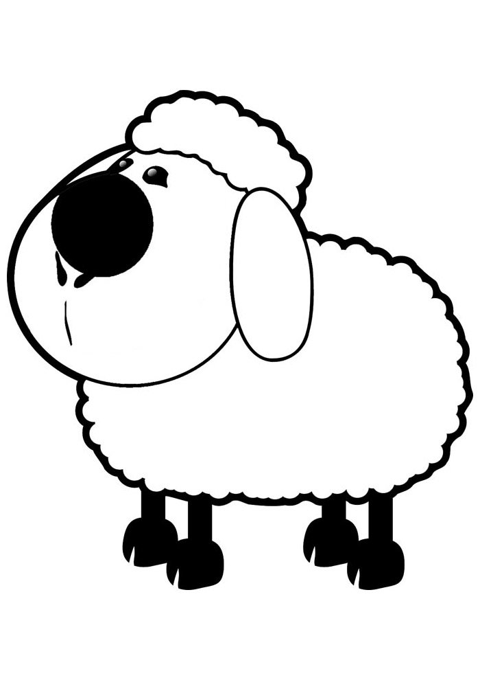 sheep coloring page 10