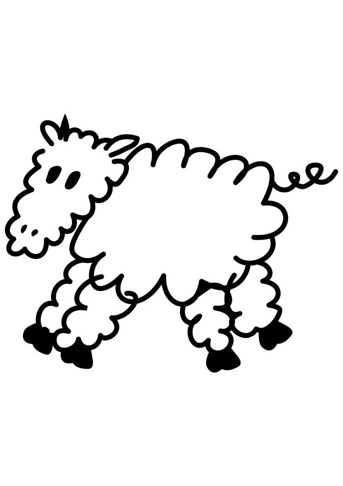 sheep coloring page 11