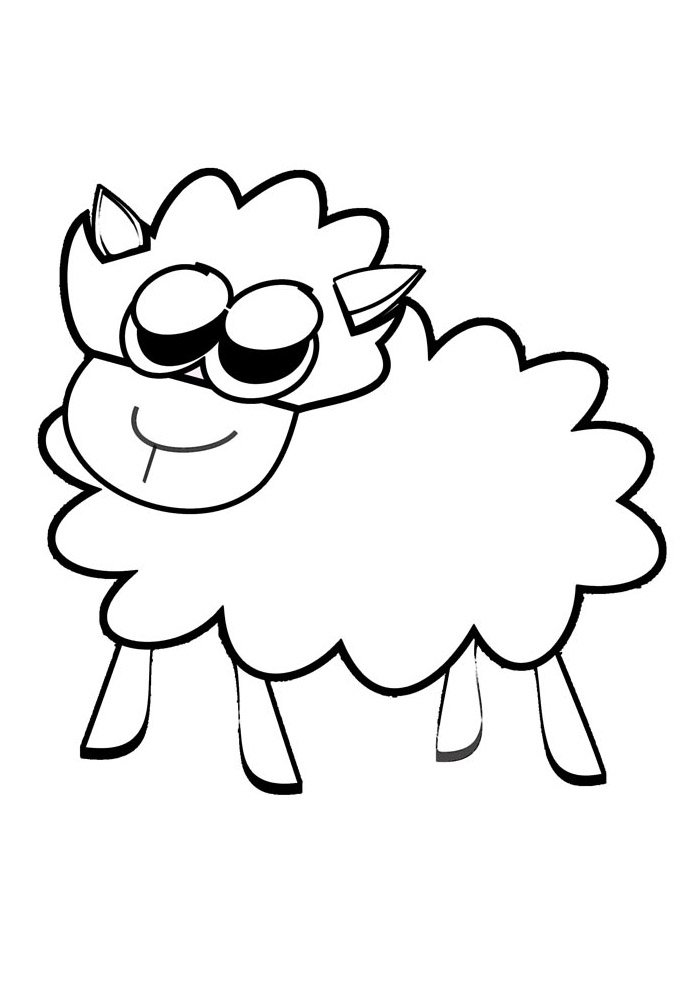 sheep coloring page 13