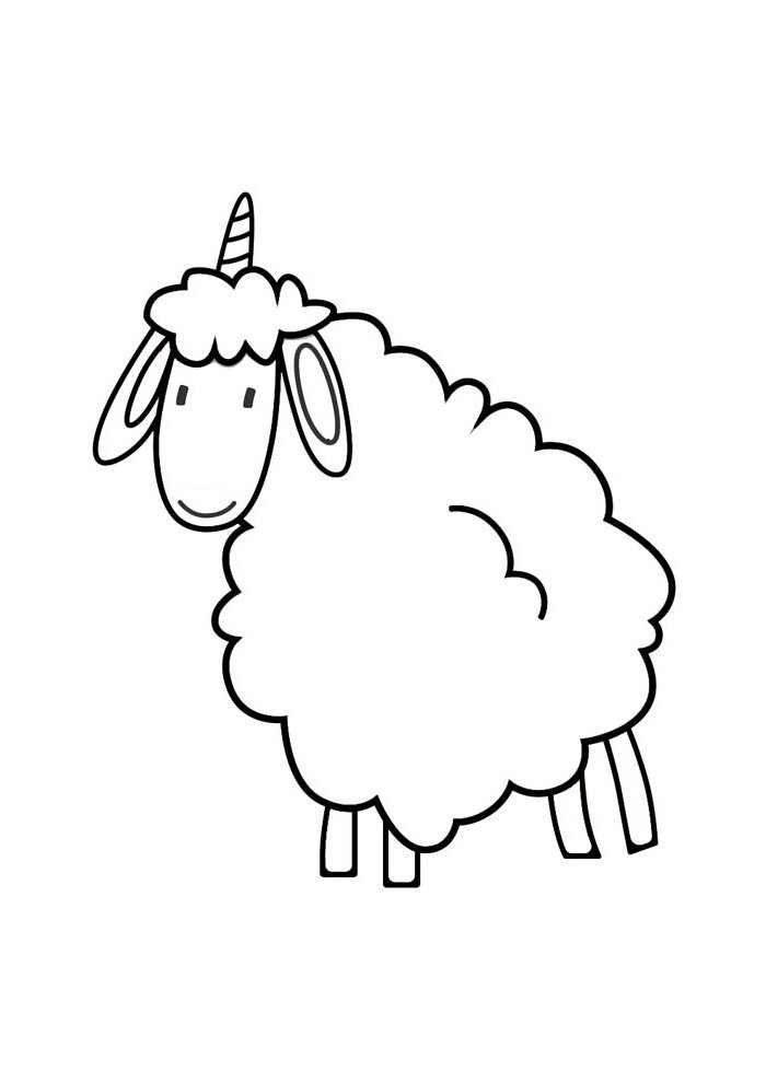 sheep coloring page 14
