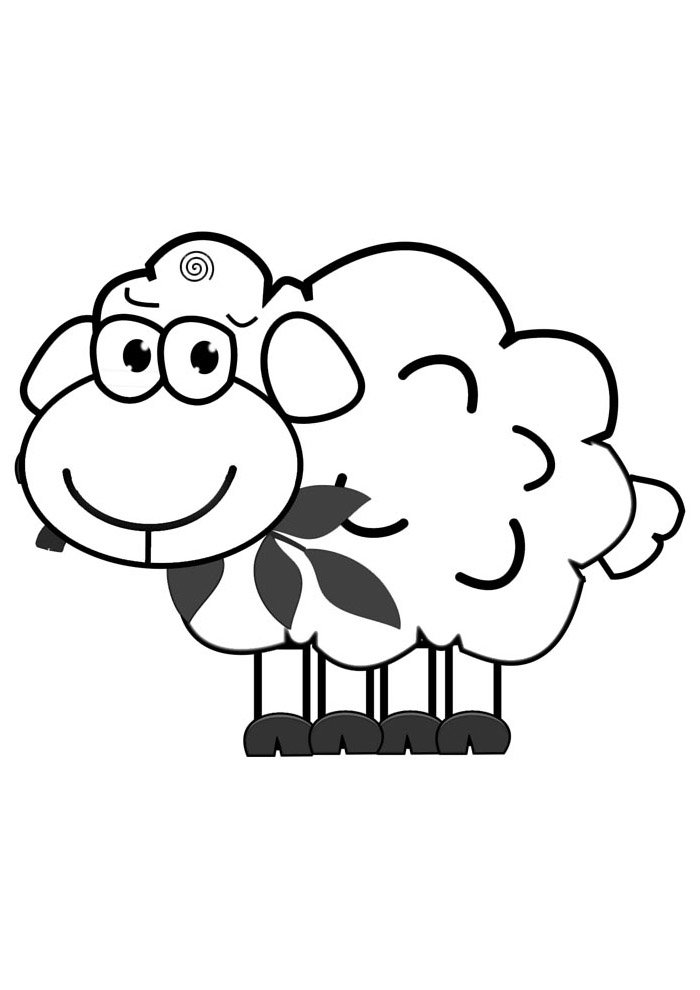 sheep coloring page 15